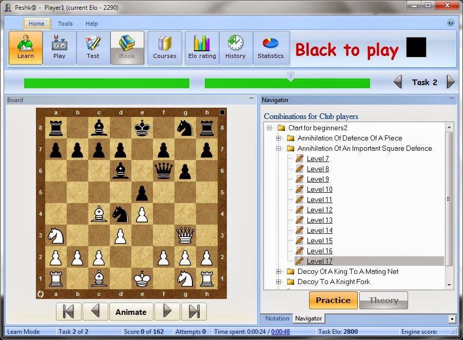 Chess tactics worksheets