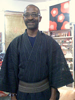 Japanese Yukata Robe from Kimono House NY 212-505-0232