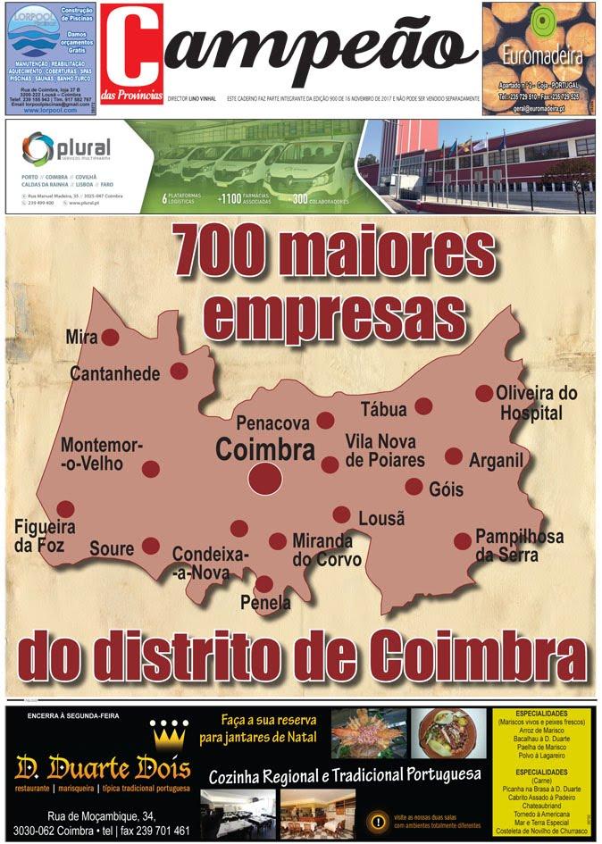 Maiores empresas de Coimbra
