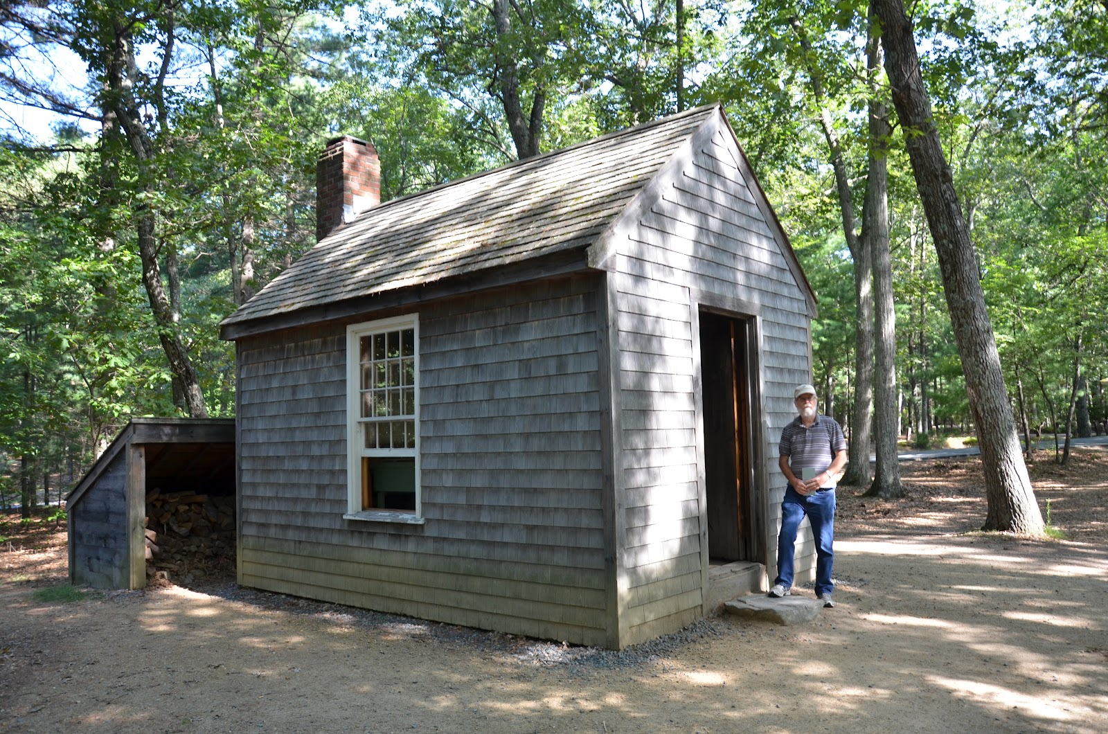 baugh s blog photo essay thoreau and walden pond a reconstruction of thoreau s walden one room hut near the entry to walden pond state reservation