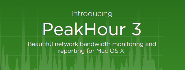 PeakHour bandwidth monitoring app for Mac OS X