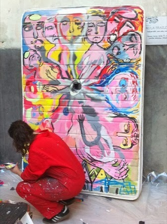 Arte en Colchones Reciclados