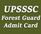 upsssc forest guard admit card 2015