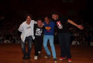 Com João Valio, Diego Castro e Adal Silvestre