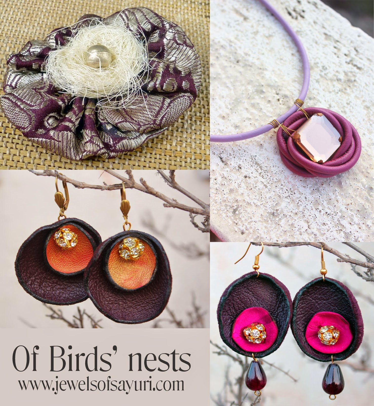 Bird's nest jewelry for mother's day