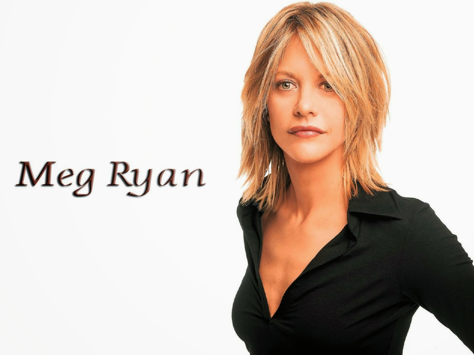 Meg Ryan in Black T-Shirt