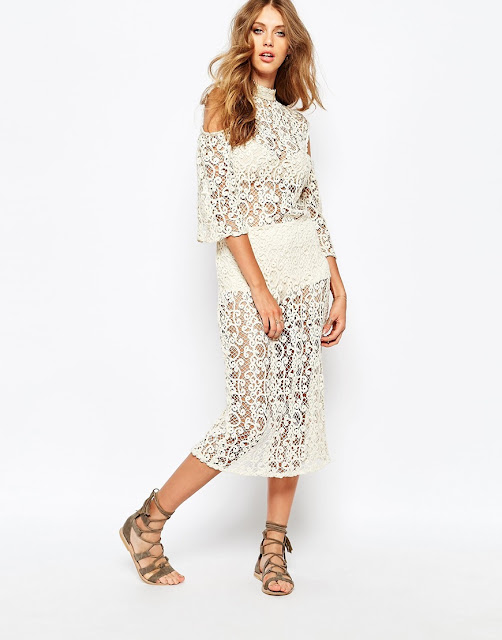 stevie may dress, white crochet midi dress,