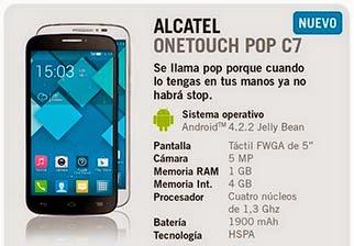 Alcatel One Touch Pop C7 con Yoigo: precio y características