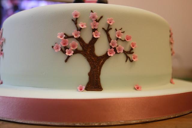 Japanese cherry blossom cake decoration