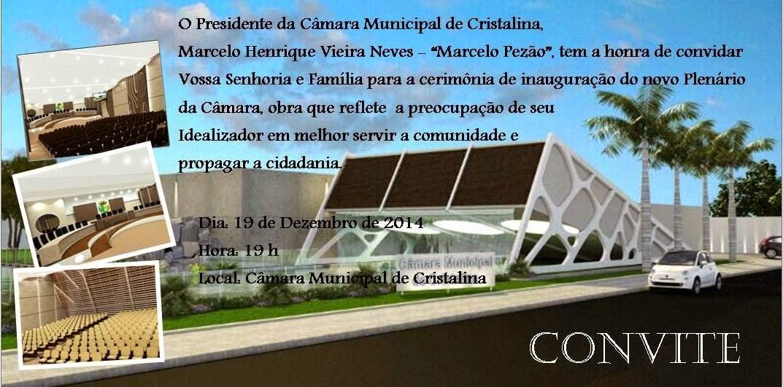 Inauguração do Plenário da Câmara de Cristalina