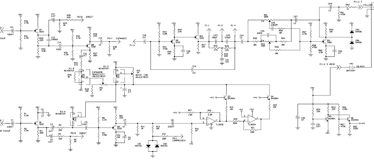 Gibson Rd Artist Guitar Circuit Schematic With Explanation