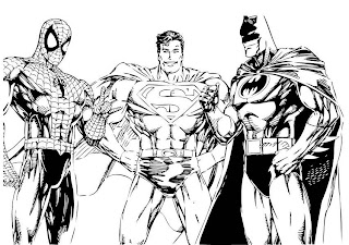Desenhos Para Colorir super herois, homen aranha, homen de ferro, mulher maravilha, batman