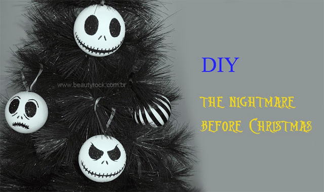 "Como Fazer DIY: Árvore de Natal ""The Nightmare Before Christmas"", Jack, skull, caveira, rock"