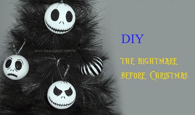 """Como Fazer DIY: Árvore de Natal """"The Nightmare Before Christmas"""", Jack, skull, caveira, rock"""