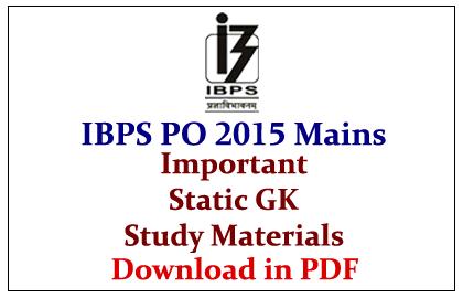 Exam material study po pdf ibps