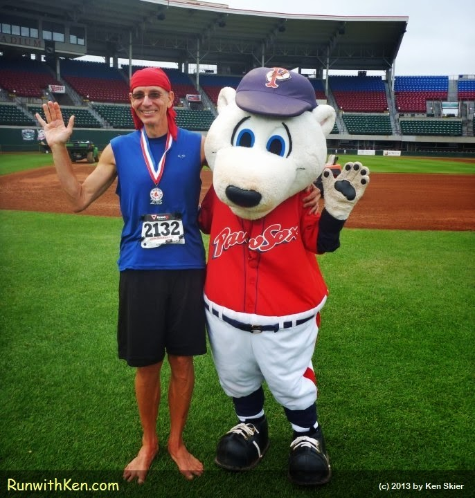 Barefoot Runner wins award at PawSox 5K!  At McCoy Stadium in Pawtucket, RI.