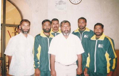 Ch. Muhammad Mansha (Right) with pakistani Kabaddi Players and Officials