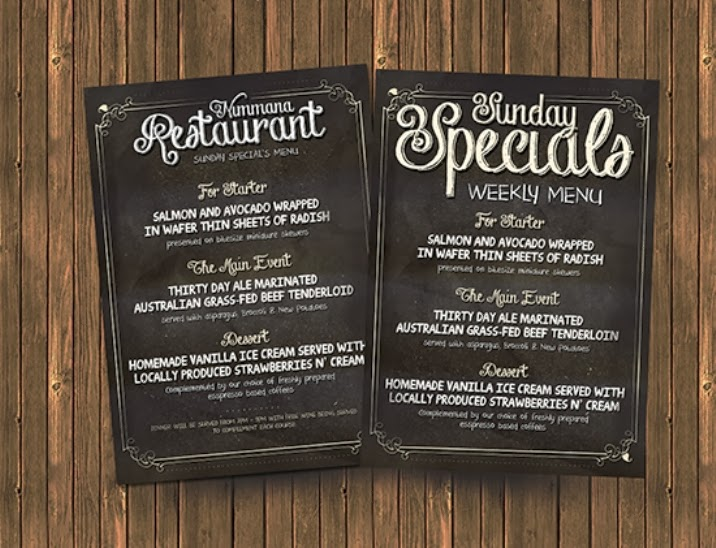 Chalk Board Menu PSD Flyer Template
