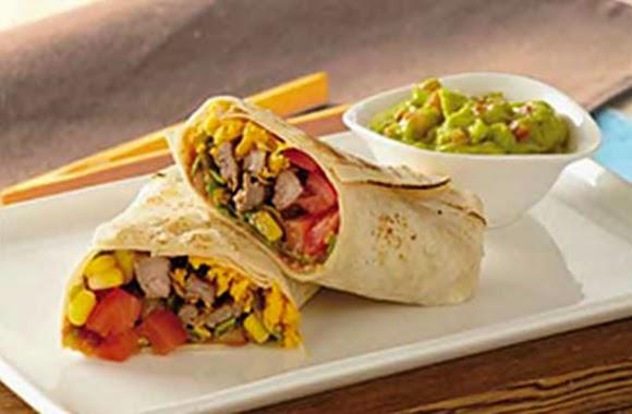 Burritos De Carne Y Queso Fundido