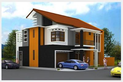 desain atap rumah minimalis 2lantai