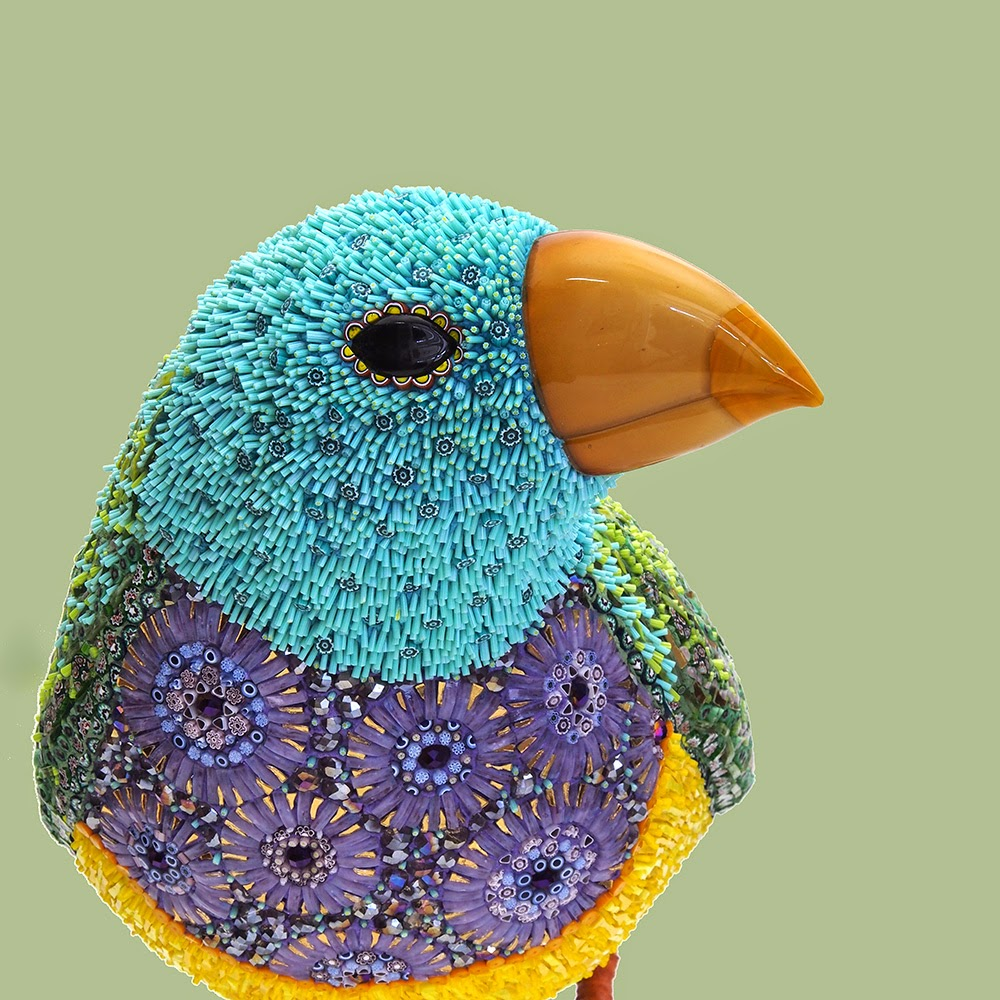 Venice, Italy Born Dusciana Bravura Created These Breathtaking Mosaics Bird  Sculptures Made Out Of Mixture Of Glass Paste, Millefiori, Crystals, Iron,  ...