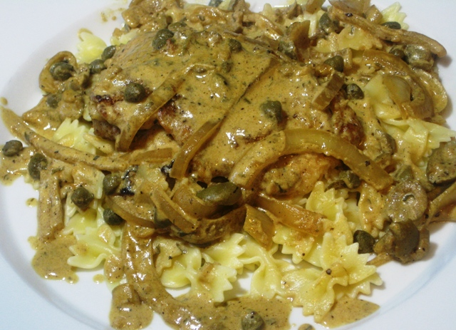 chicken fillets in creamy lemon caper sauce 4 chicken breasts