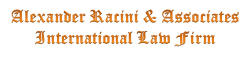 Alexander Racini & Associates Firma de Abogados Internacional México USA