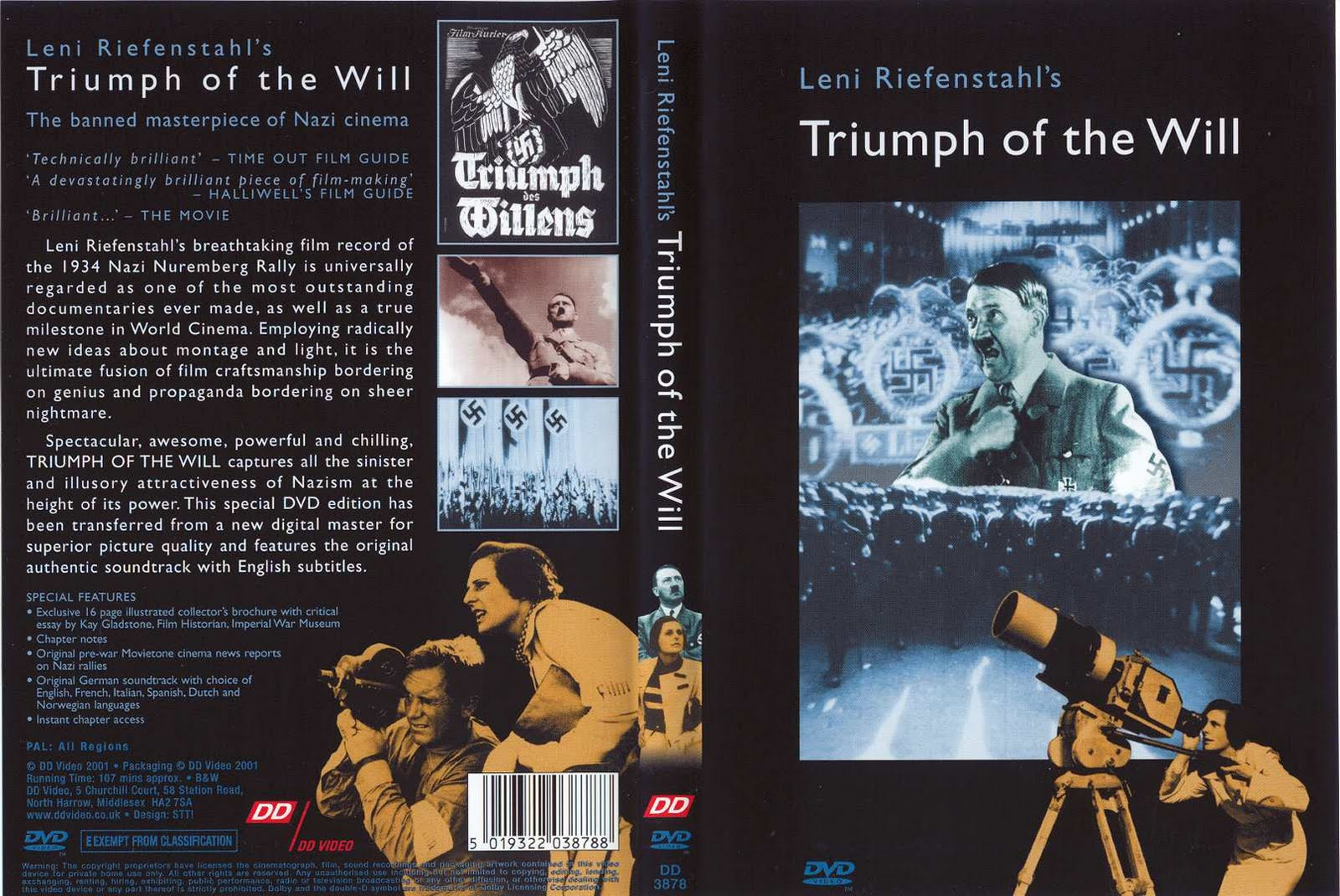 a film review of triumph of the will by leni riefenstahl Review added: 4/9/01 triumph of the will special the immense talent of leni riefenstahl is put on display in a film that utilized a huge crew and tremendously.