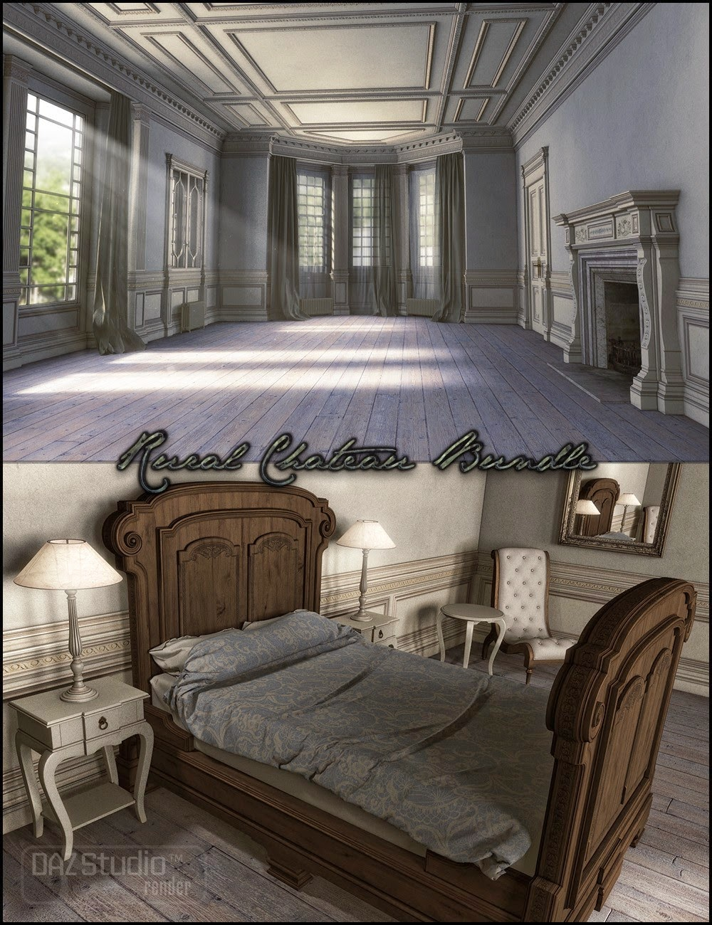 DAZ STUDIO - Rural Chateau Bundle