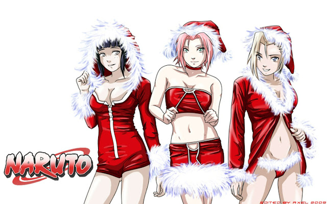 Christmas Naruto Girls Wallpaper 0004