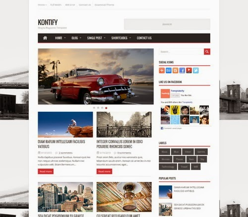 Kont Magazine Blogger Template