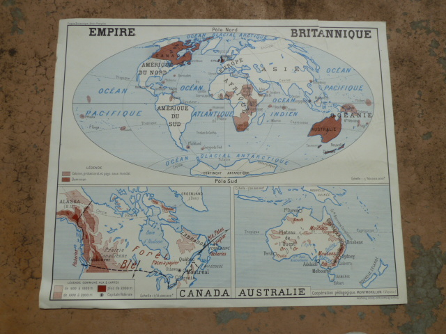 Vintage french posters botany animals anatomy old world maps from vintage british french colonies 1950 gumiabroncs Choice Image