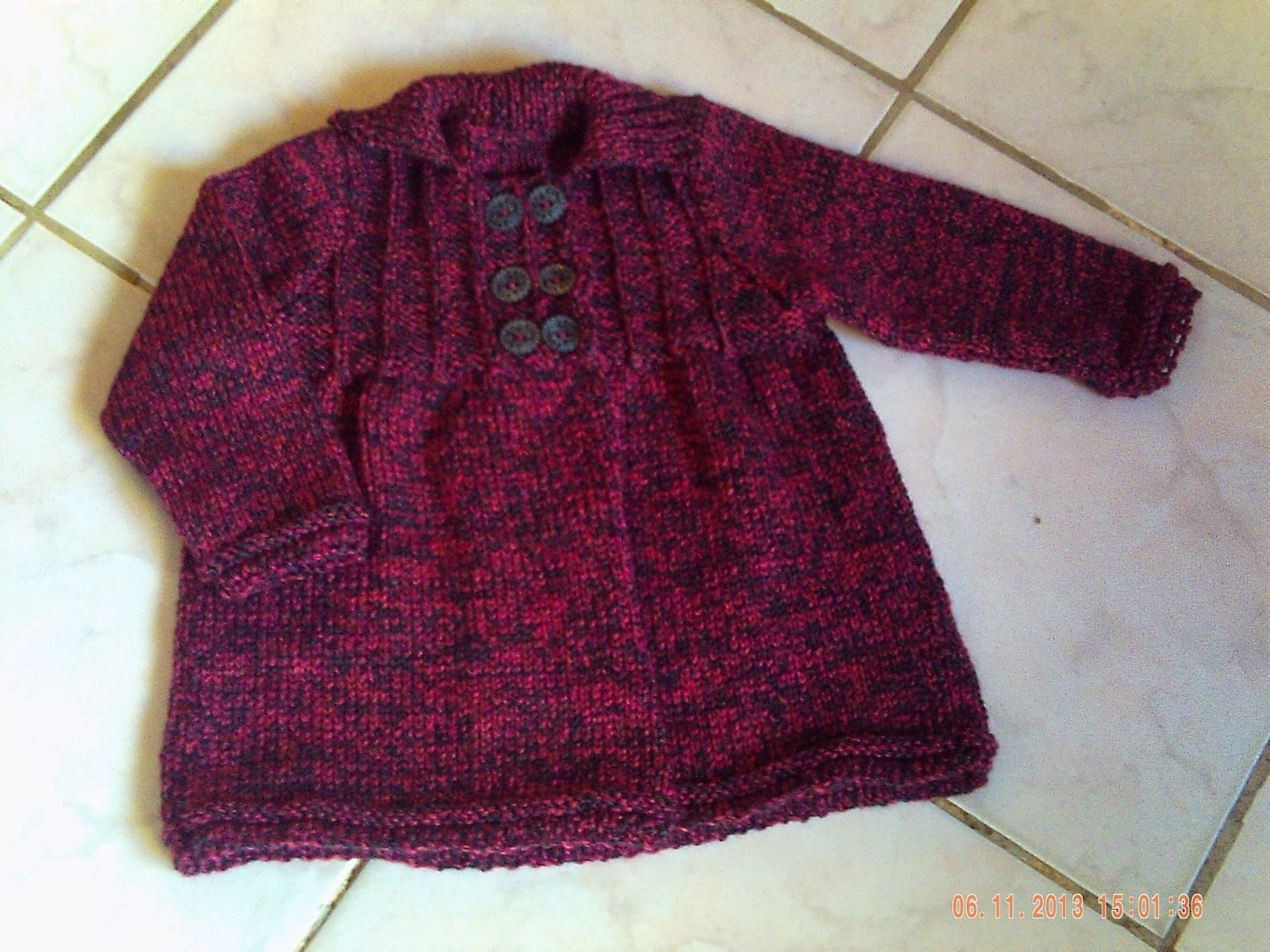 modele tricot gilet bebe 24 mois