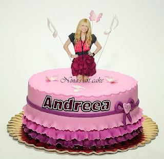 """Tort """"Hannah Montana"""" pentru Andreea"""