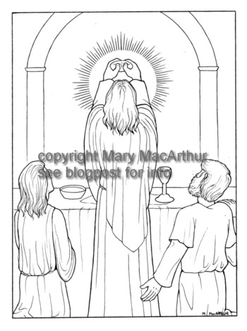 Snowflake Clockwork: Institution of the Eucharist coloring page