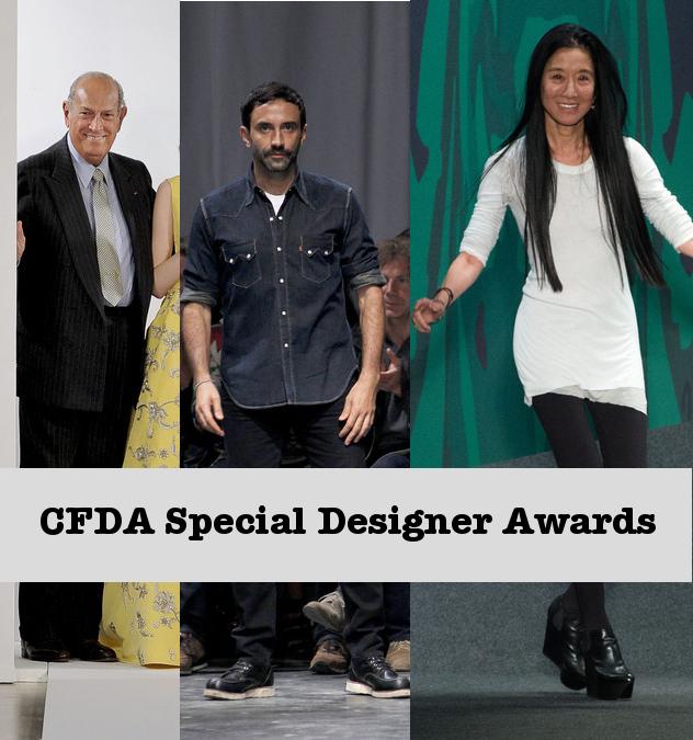 CFDA 2013 Awards - Oscar de la Renta, Riccardo Tisci, Vera Wang