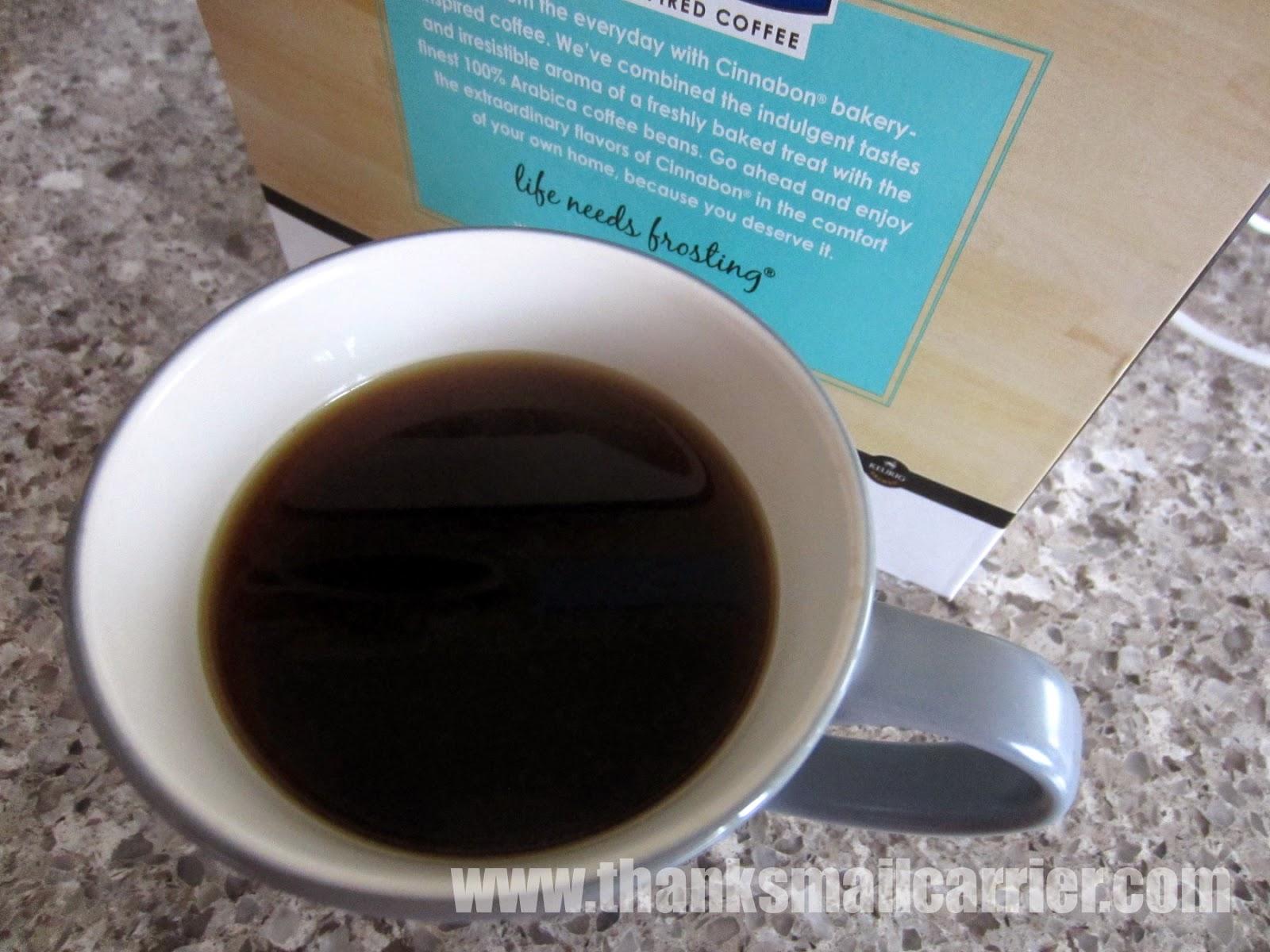 Cinnabon cinnamon roll coffee