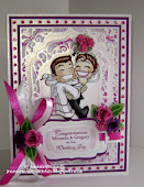 A Wedding Card in Purple and Pink