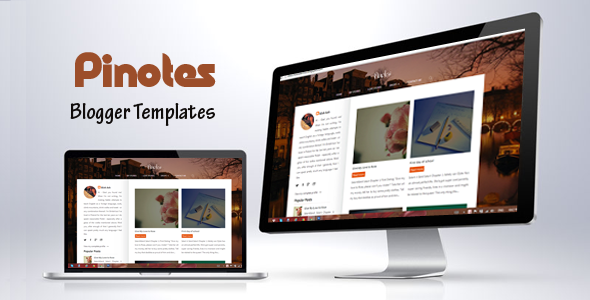 pinotes responsive Blogger Template For Writers 2014