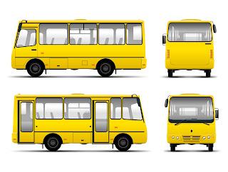 マイクロバスのイラスト PASSENGER CARS VECTOR MATERIAL