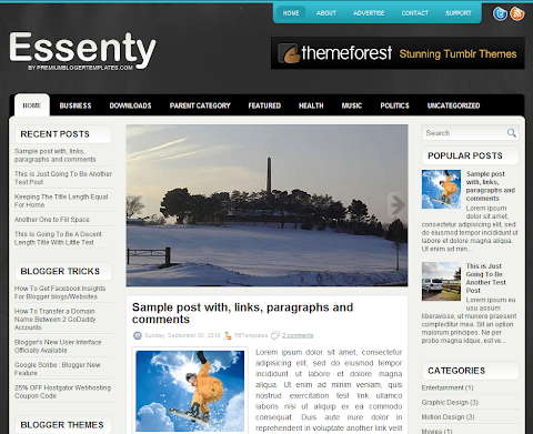 Essenty Blogger Theme