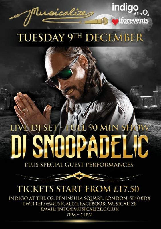 Snoop Dogg headline Musicalize website launch party December
