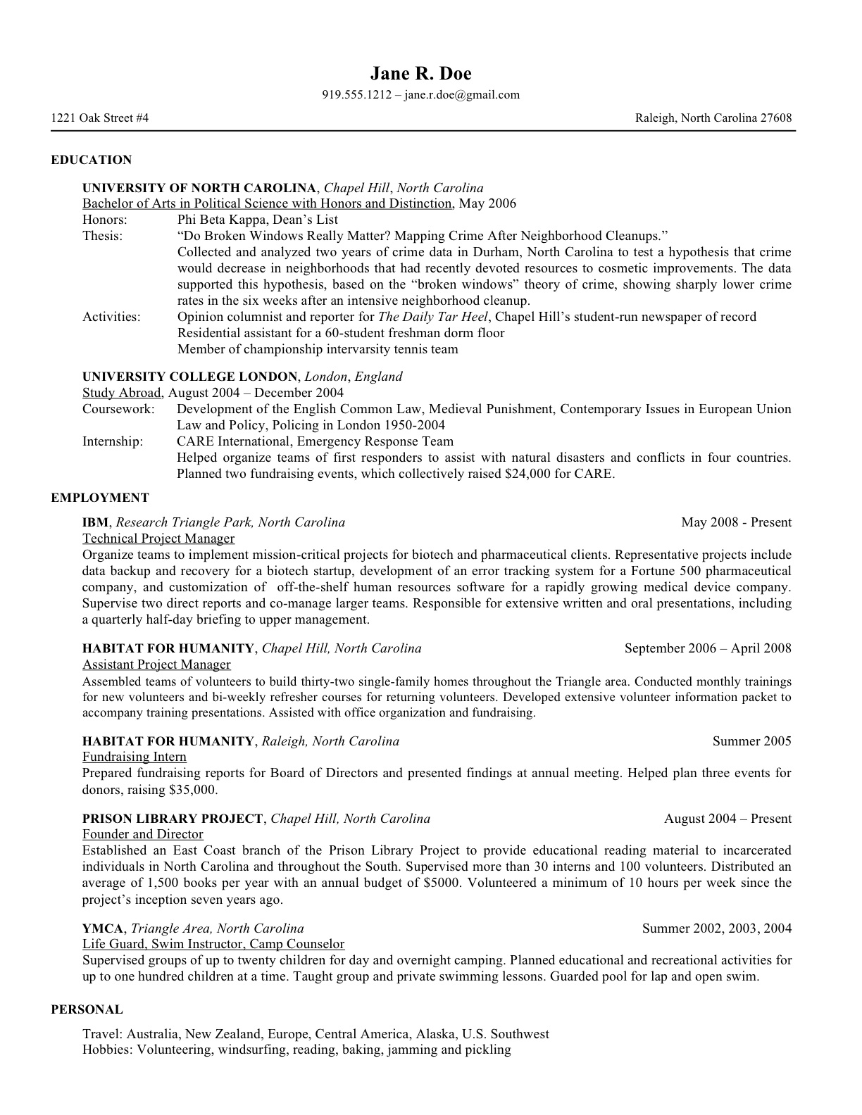 student resume for college applications