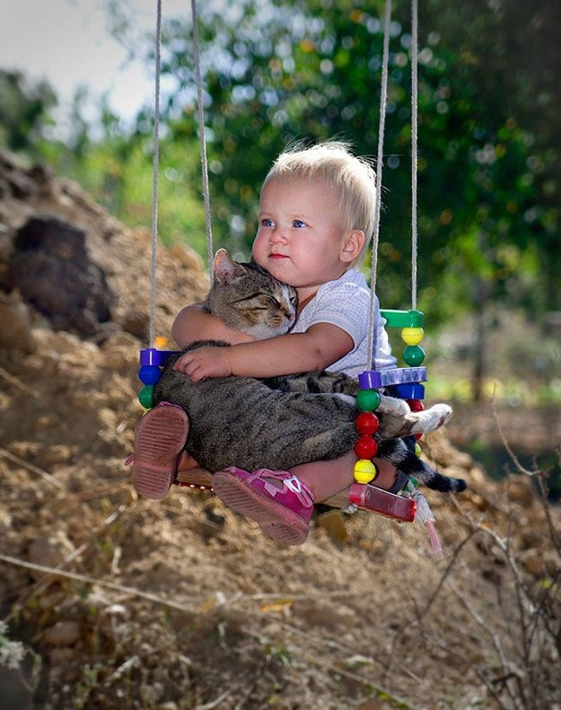The Top 10 Cutest Pictures Of Cats And Babies