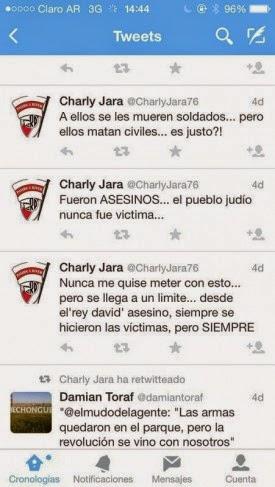 Carlos Jara, Carlos Eduardo Jara, Tweets antiisraelíes, antisemita, discriminatorio, xenofobo, River, River Plate,