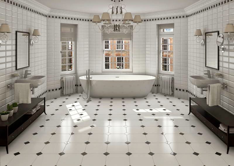 ceramic tile floor  bathroom