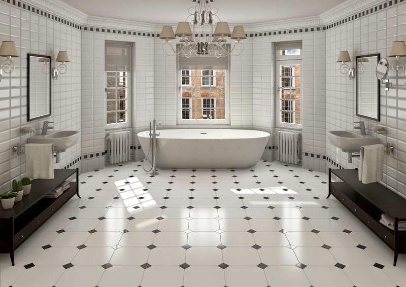 ceramic tile floor  bathroom
