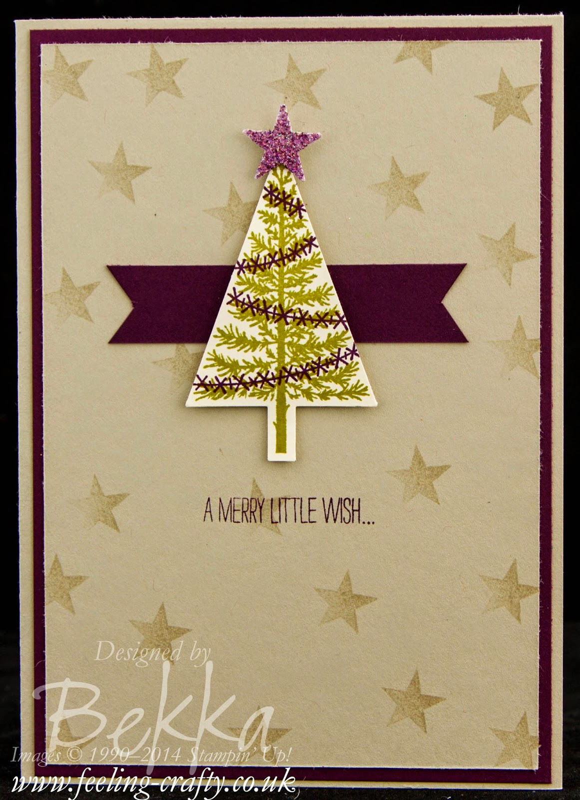 Fast and Fabulous Christmas Christmas Card Featuring the Festival of Trees Stamp Set