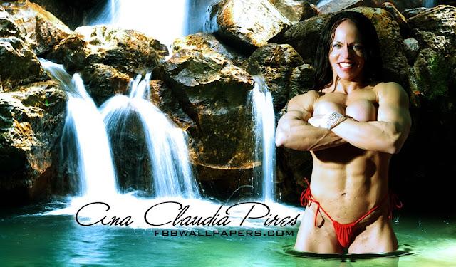 Brazilian Bodybuilder Ana Claudia Pires Wallpaper