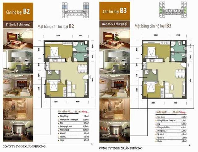 Căn hộ B2-B3 chung cư Tân Tây Đô CT1B